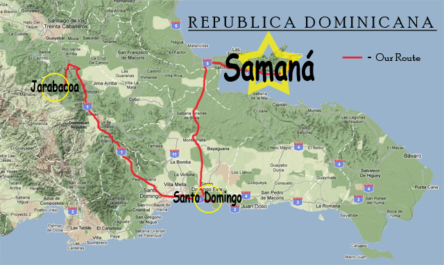 backpacker route map dominican republic