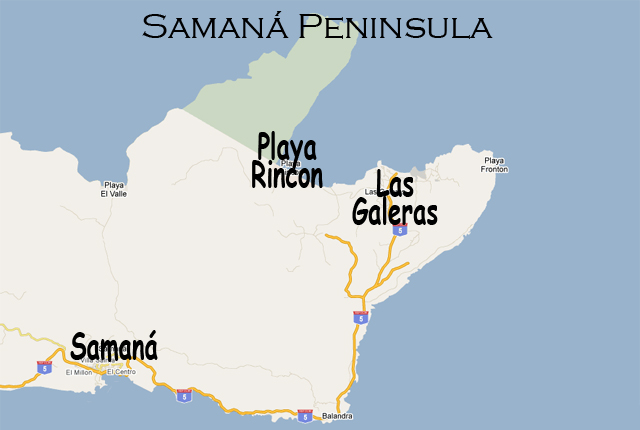 map of samana peninsula