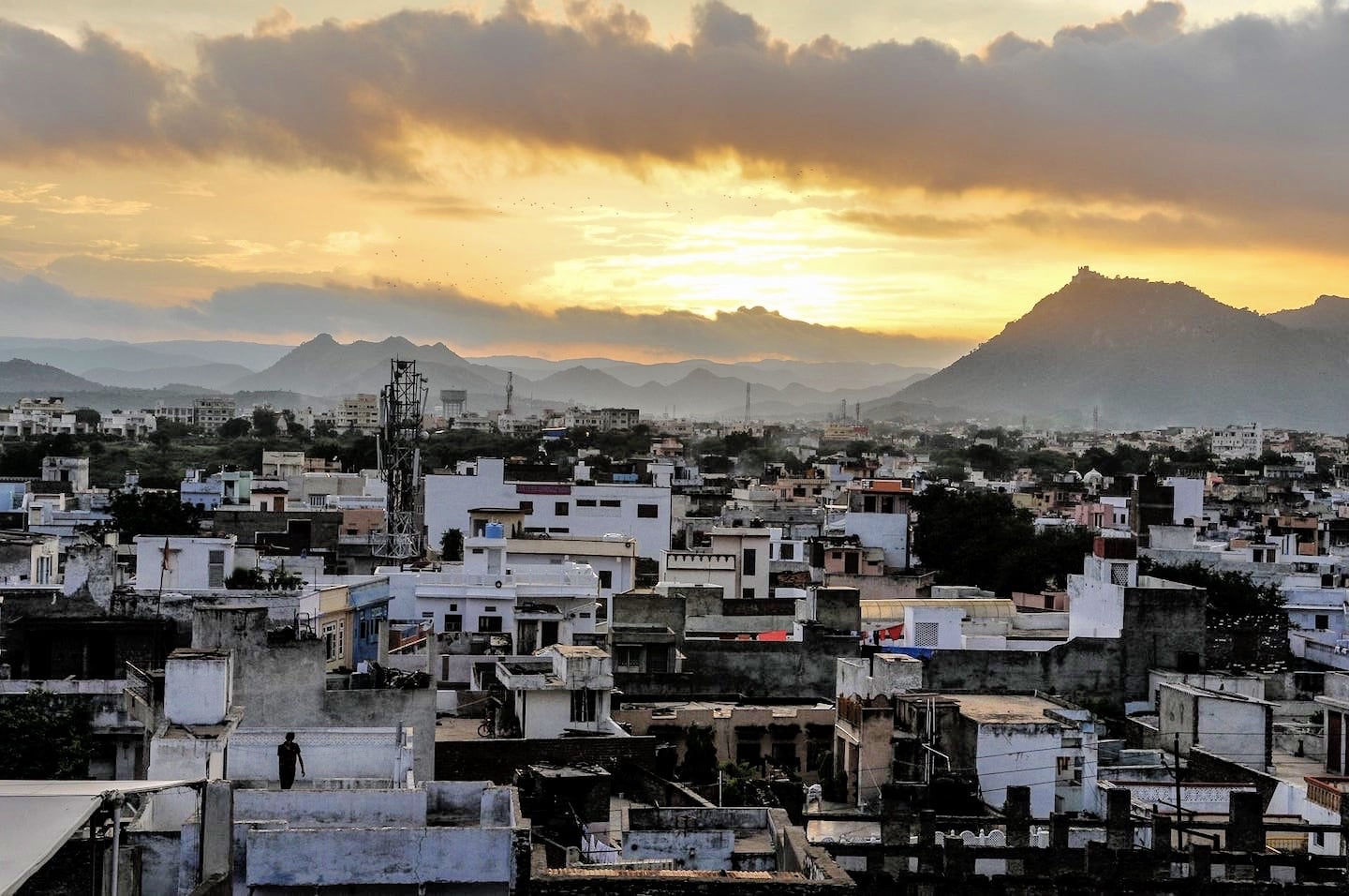 sunset in Udaipur India Travel Budget