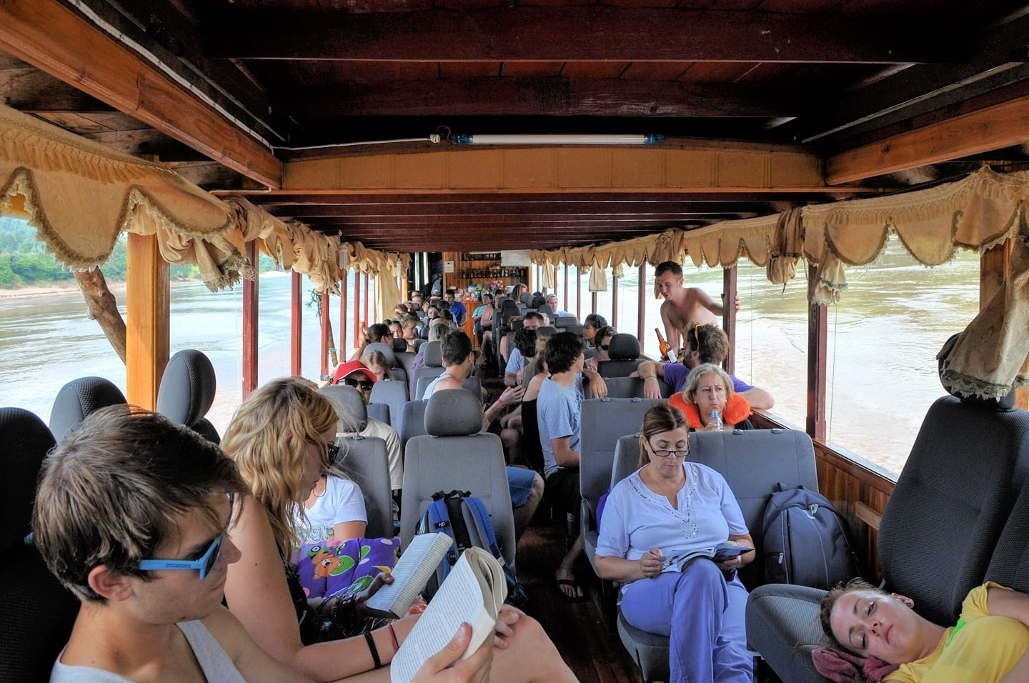 slow boat interior packed with passengers