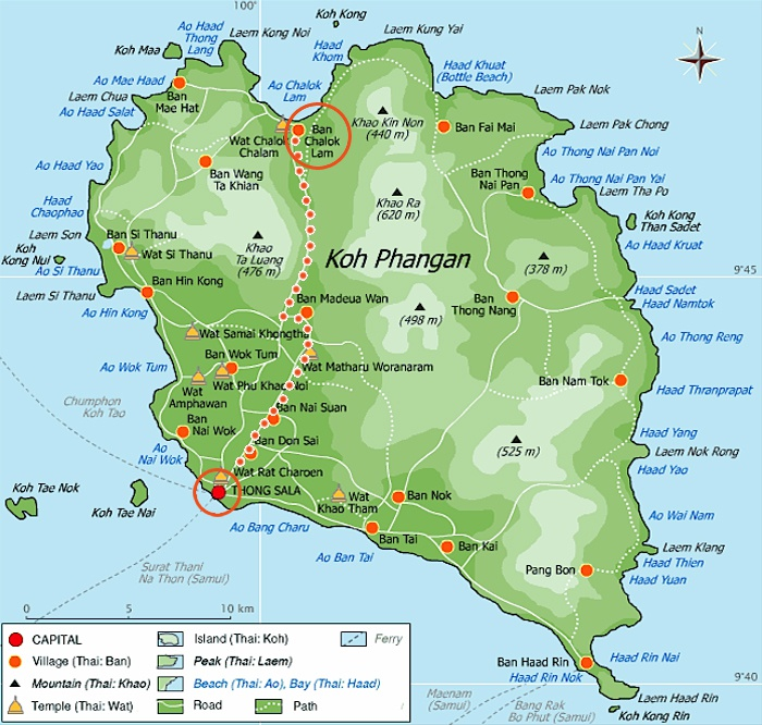 Chaloklum Beach Koh Phangan map