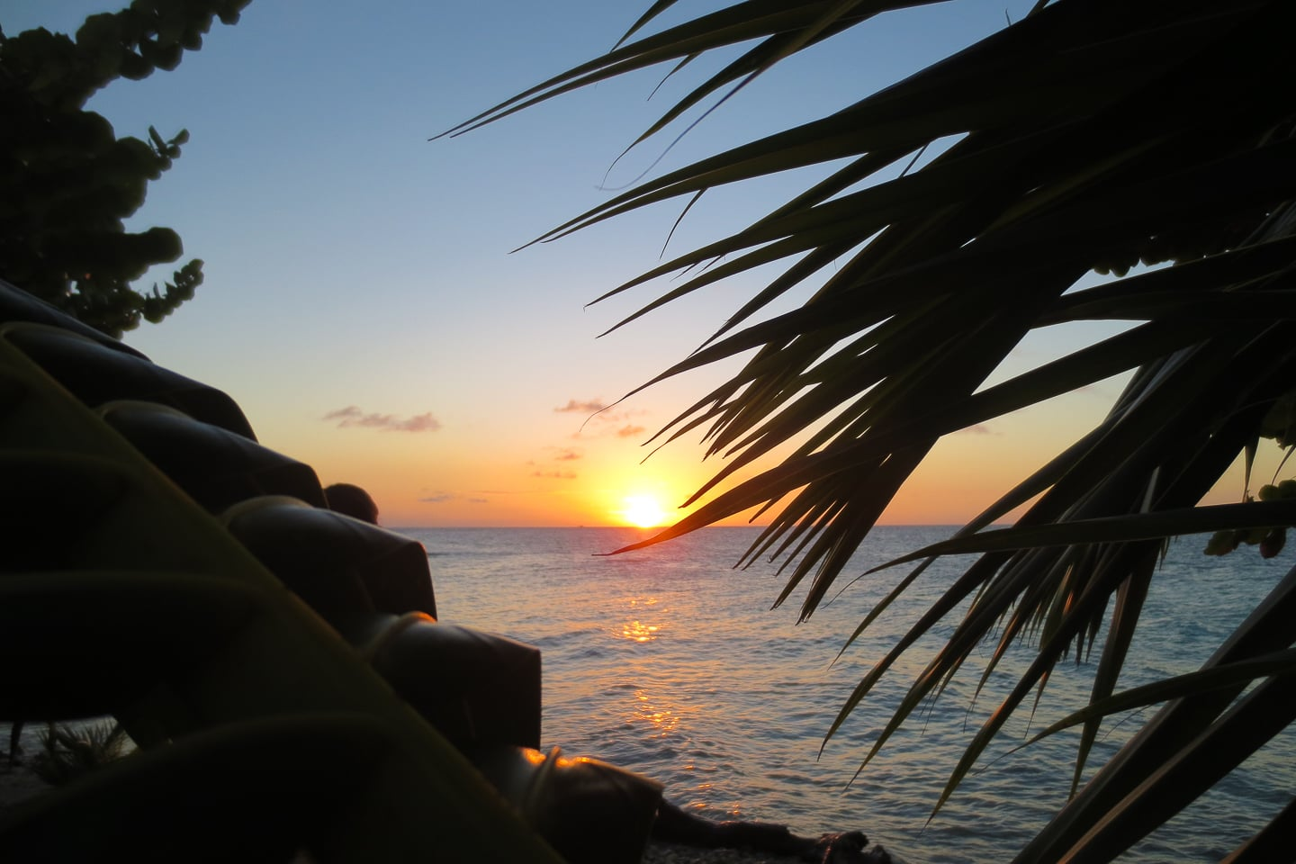 Lime Caye Sapodilla Cayes Belize sunset