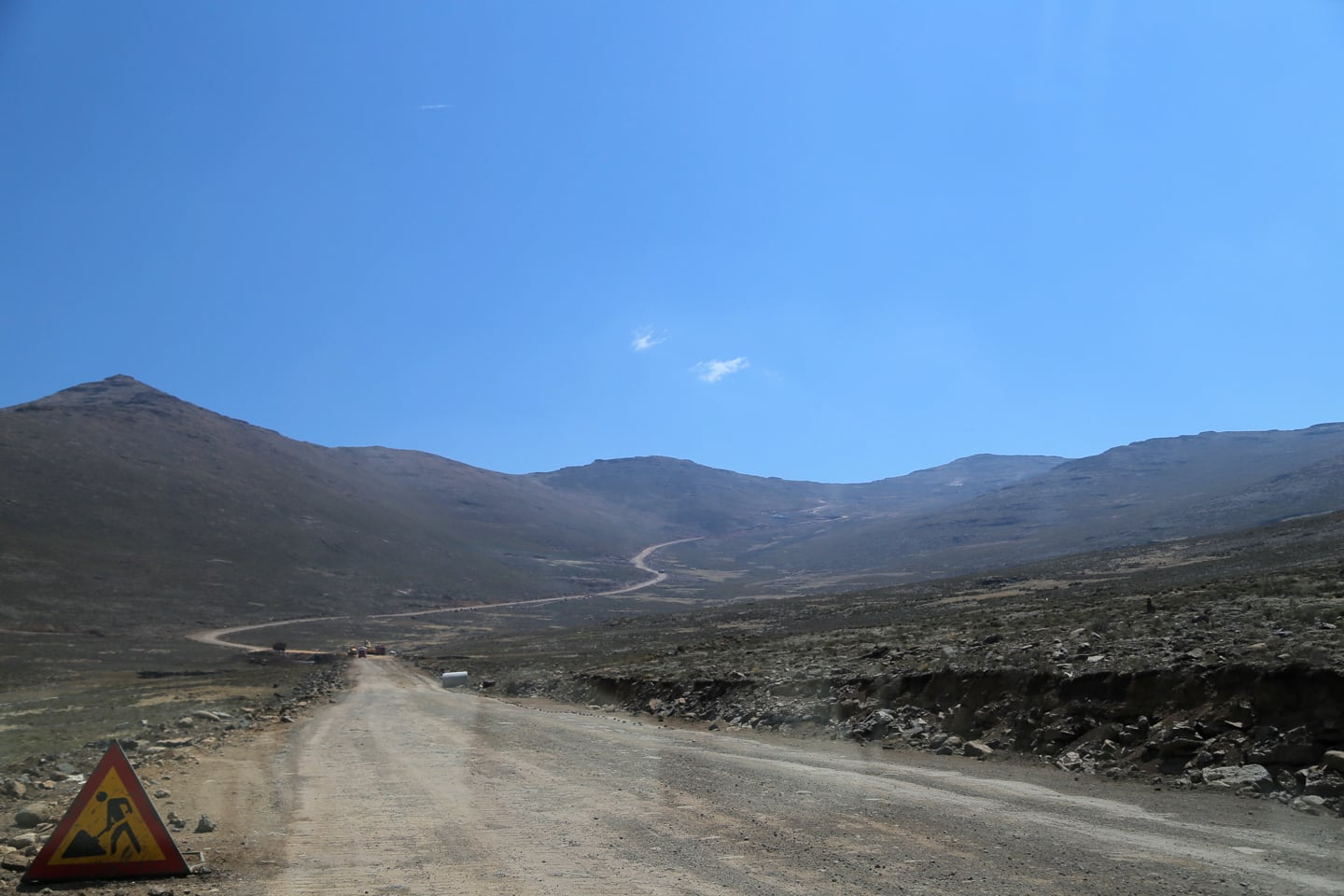 highway from Sani Pass in Lesotho