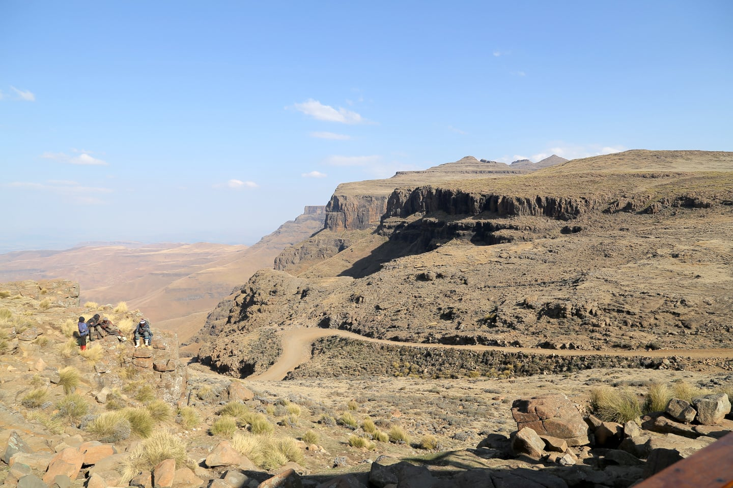 Sani Pass Lesotho view of valley