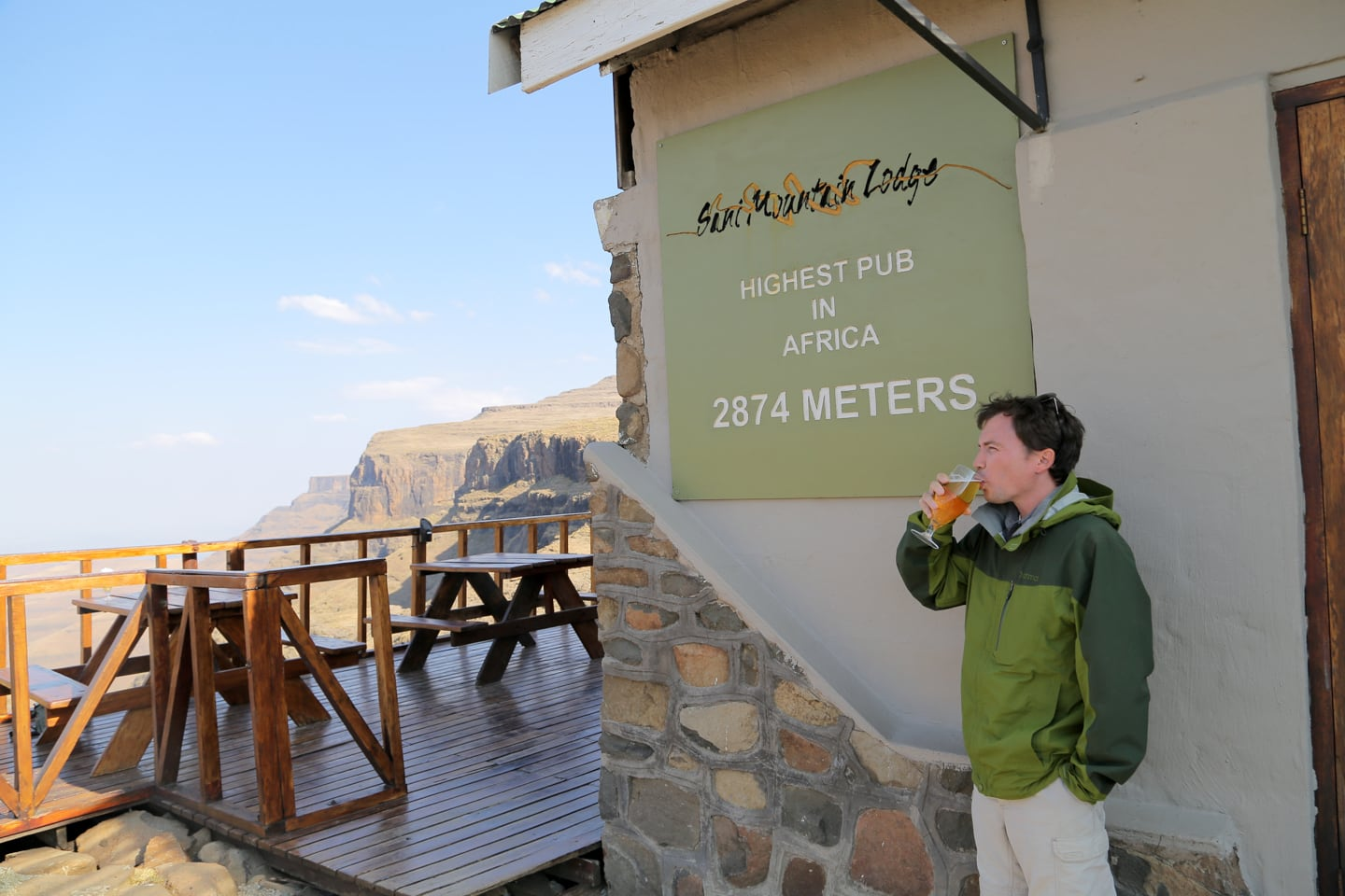 Sani Mountain Lodge highest pub in Africa