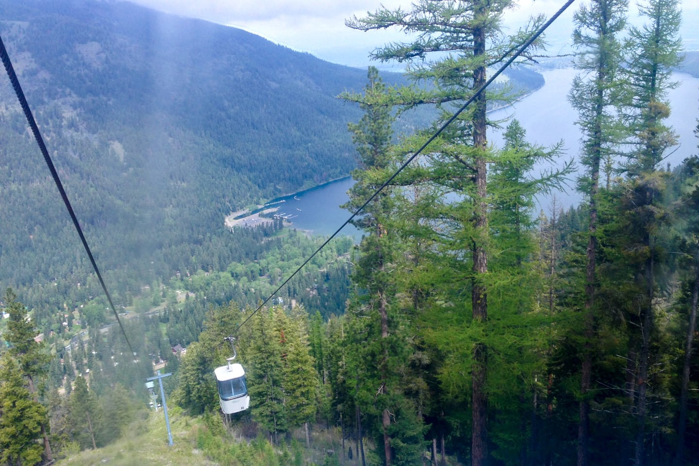 Wallowa Lake Tramway view
