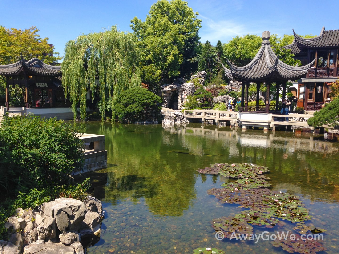 Lan Su Chinese Garden reflecting pond