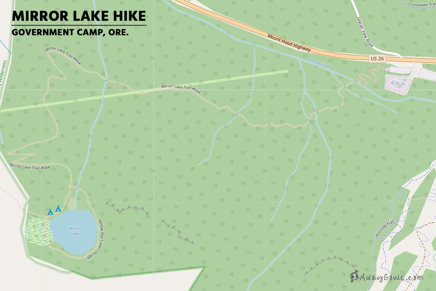 mirror lake hike map