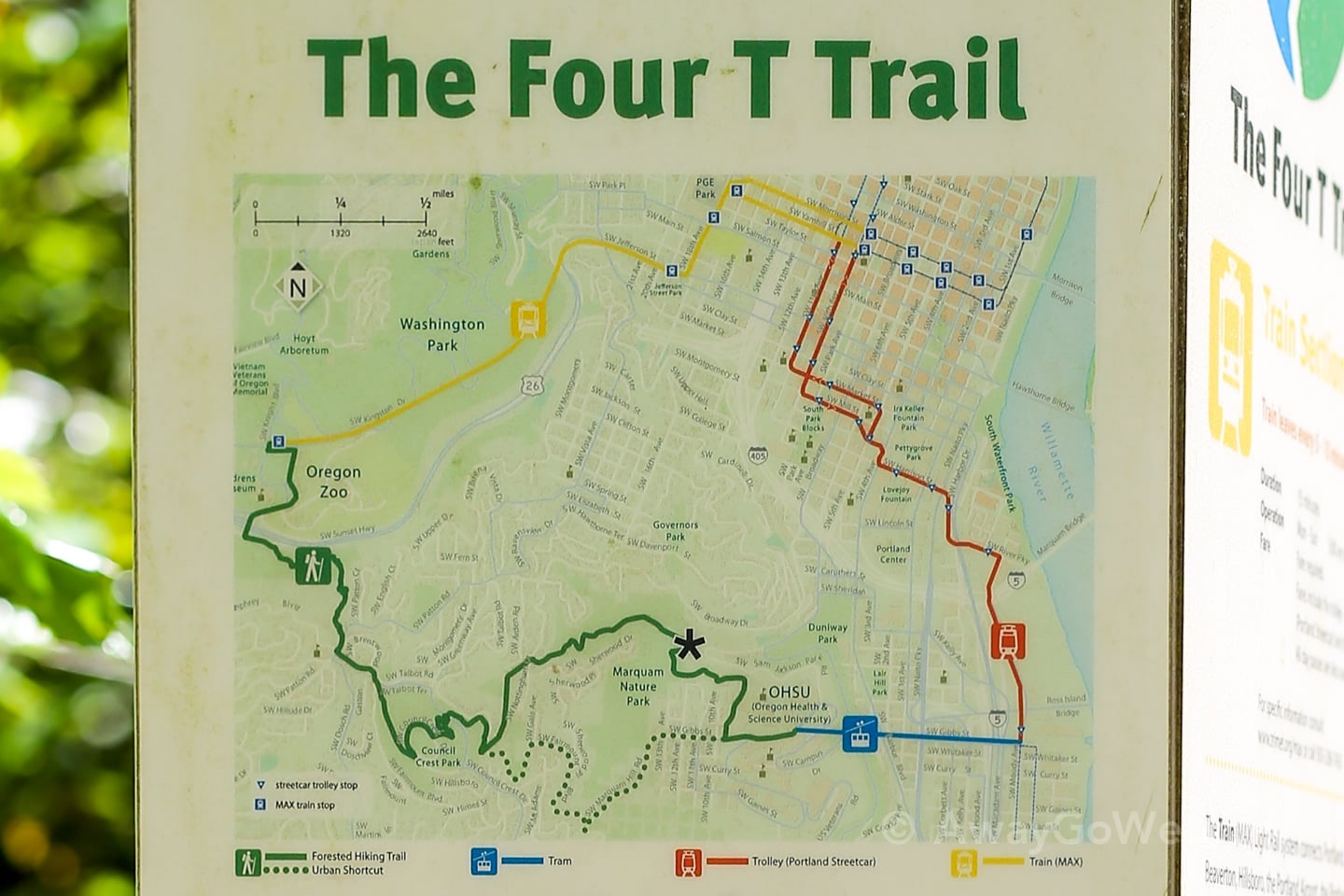 Portland 4T Trail map