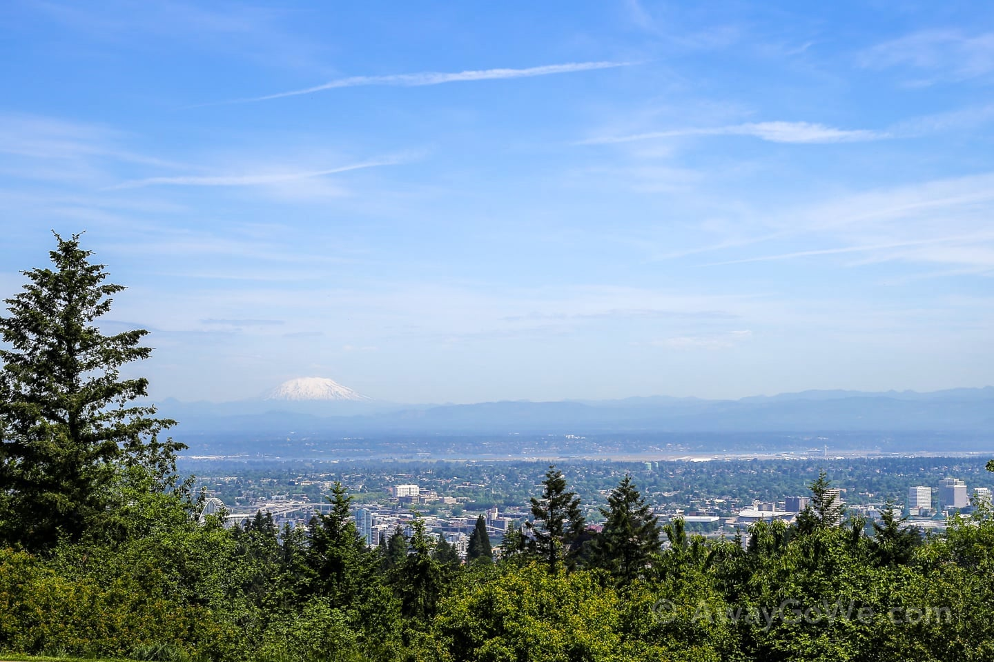 Mt St Helens from Council Crest Park Portland 4T Trail
