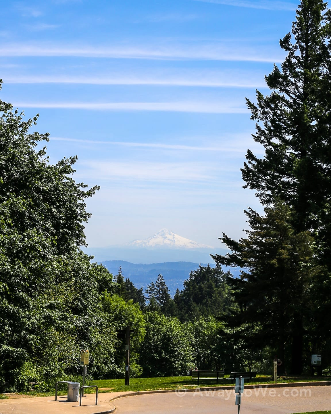 Mt Hood viewed from Council Crest Park Portland Oregon