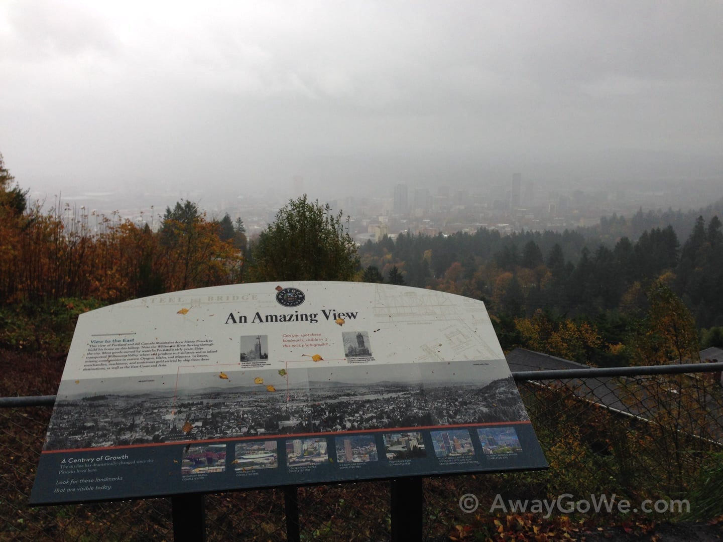 Pittock Mansion viewpoint Portland Oregon hike