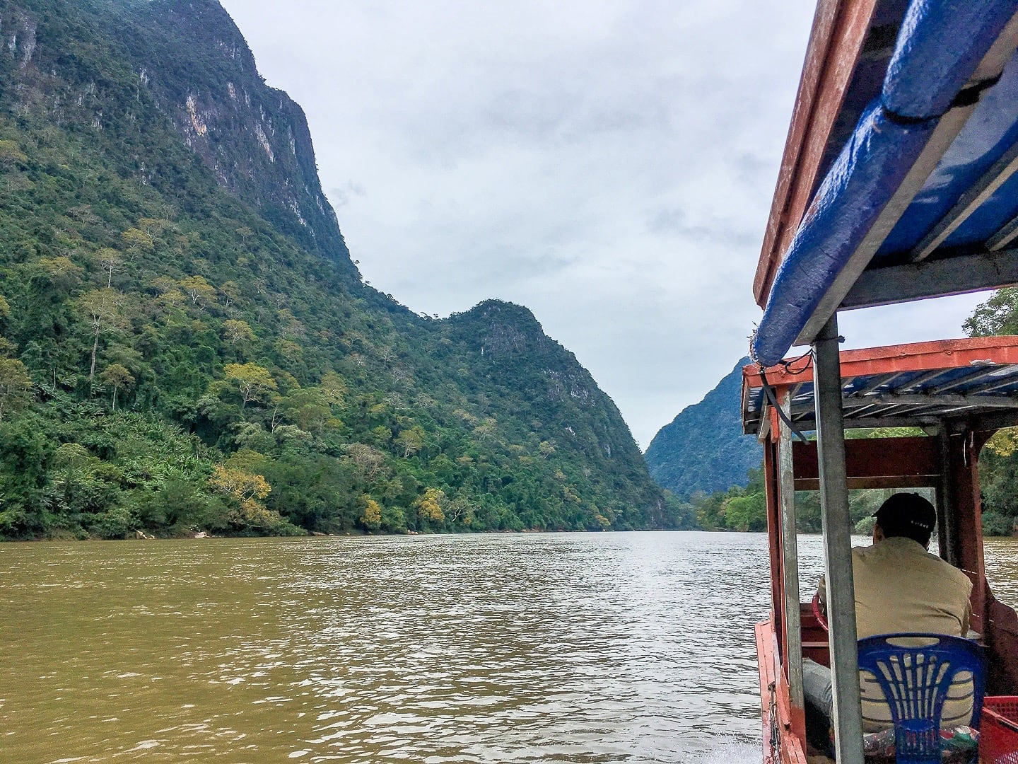 boat trip on the ou river from muang ngoi to weaving village