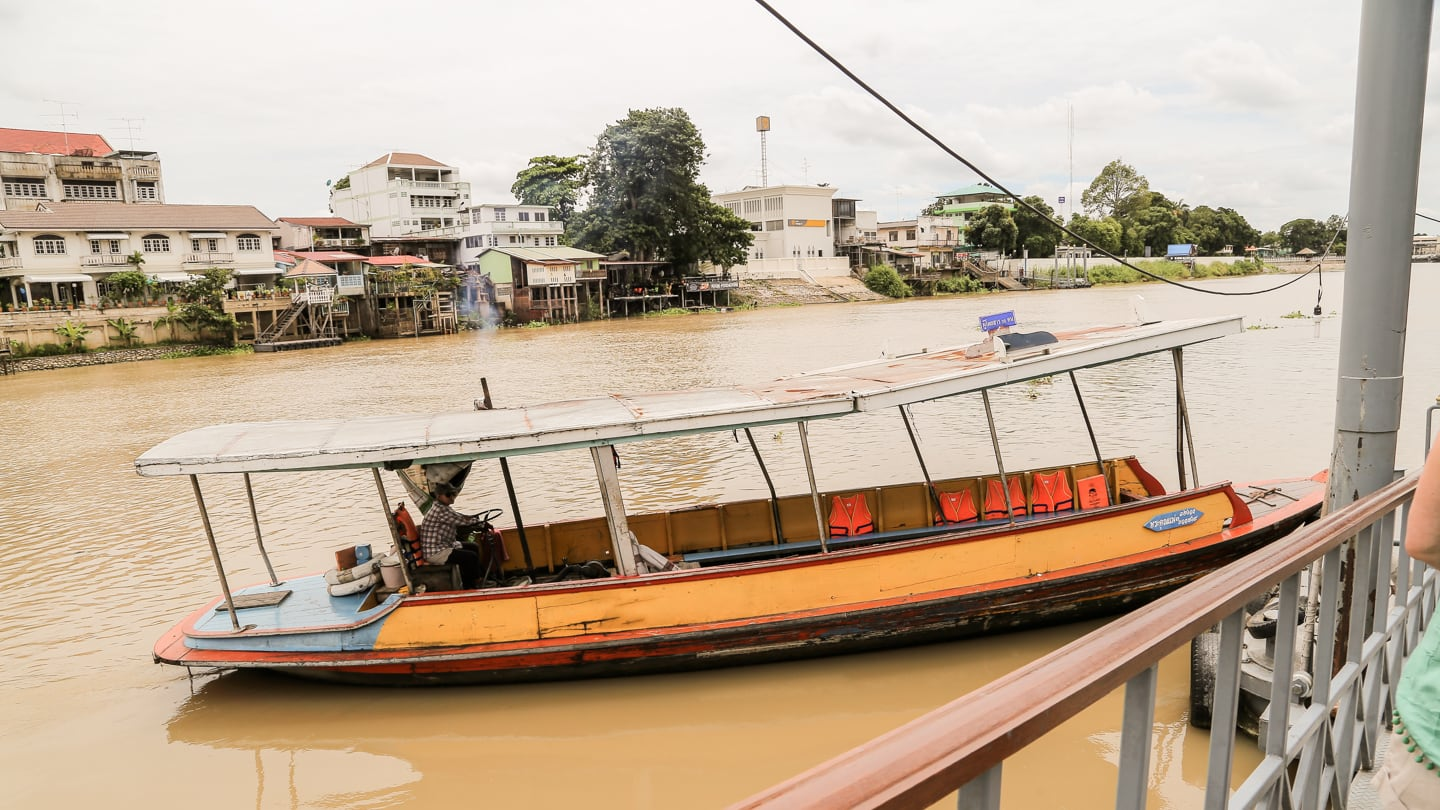 ferry to historical park of Ayutthaya day trip