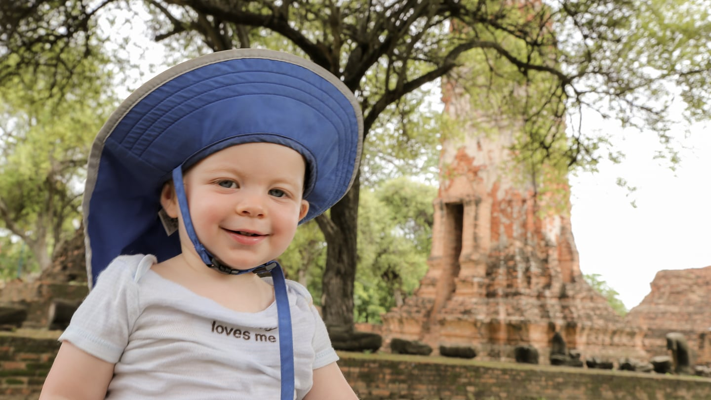ayutthaya with a baby