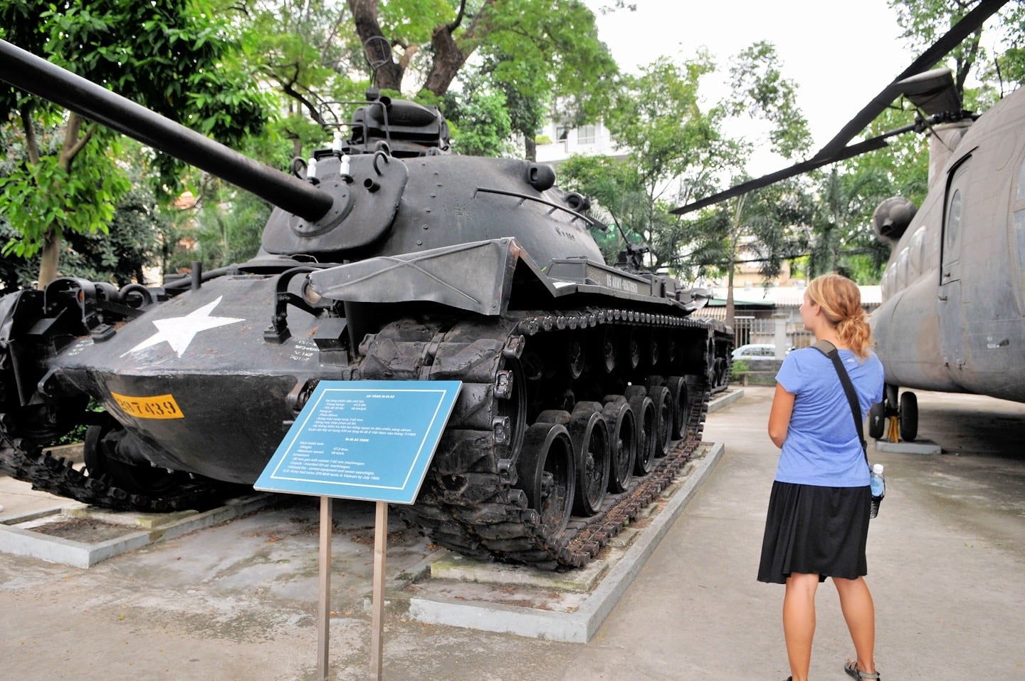 large tank on display independence palace