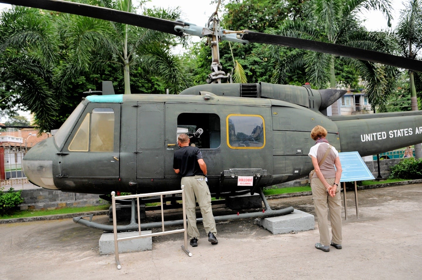 u.s. huey helicopter on display