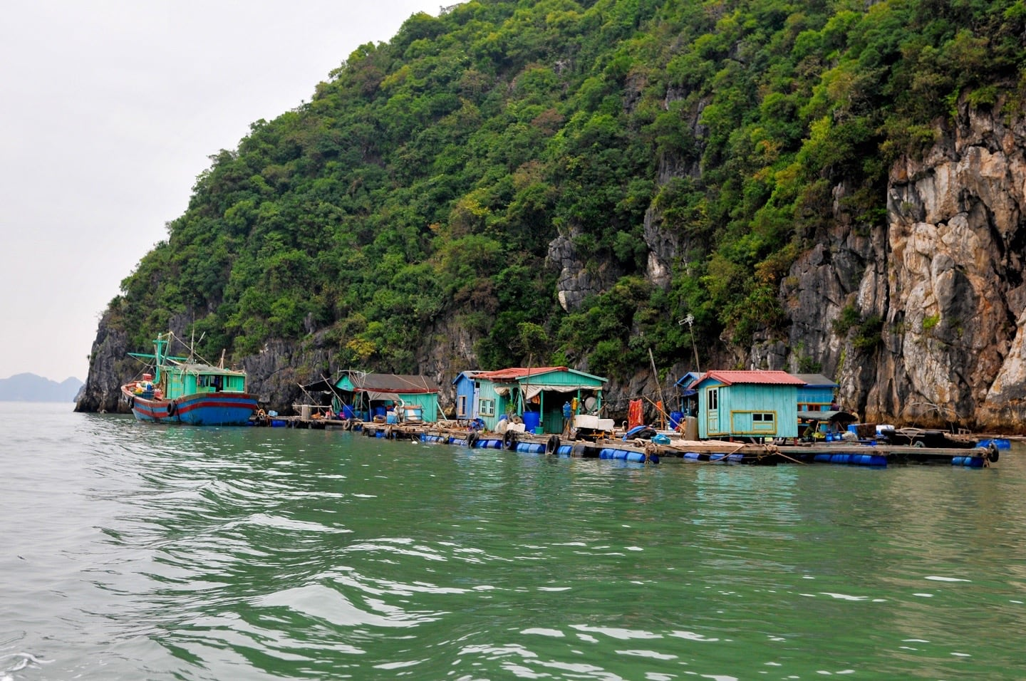fishing platforms halong bay vietnam