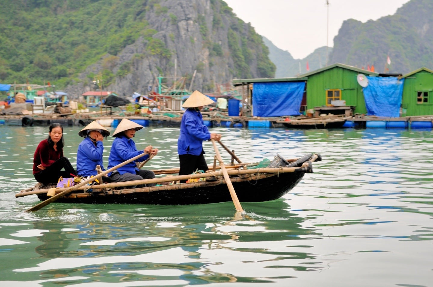 rowboat ferry vietnam