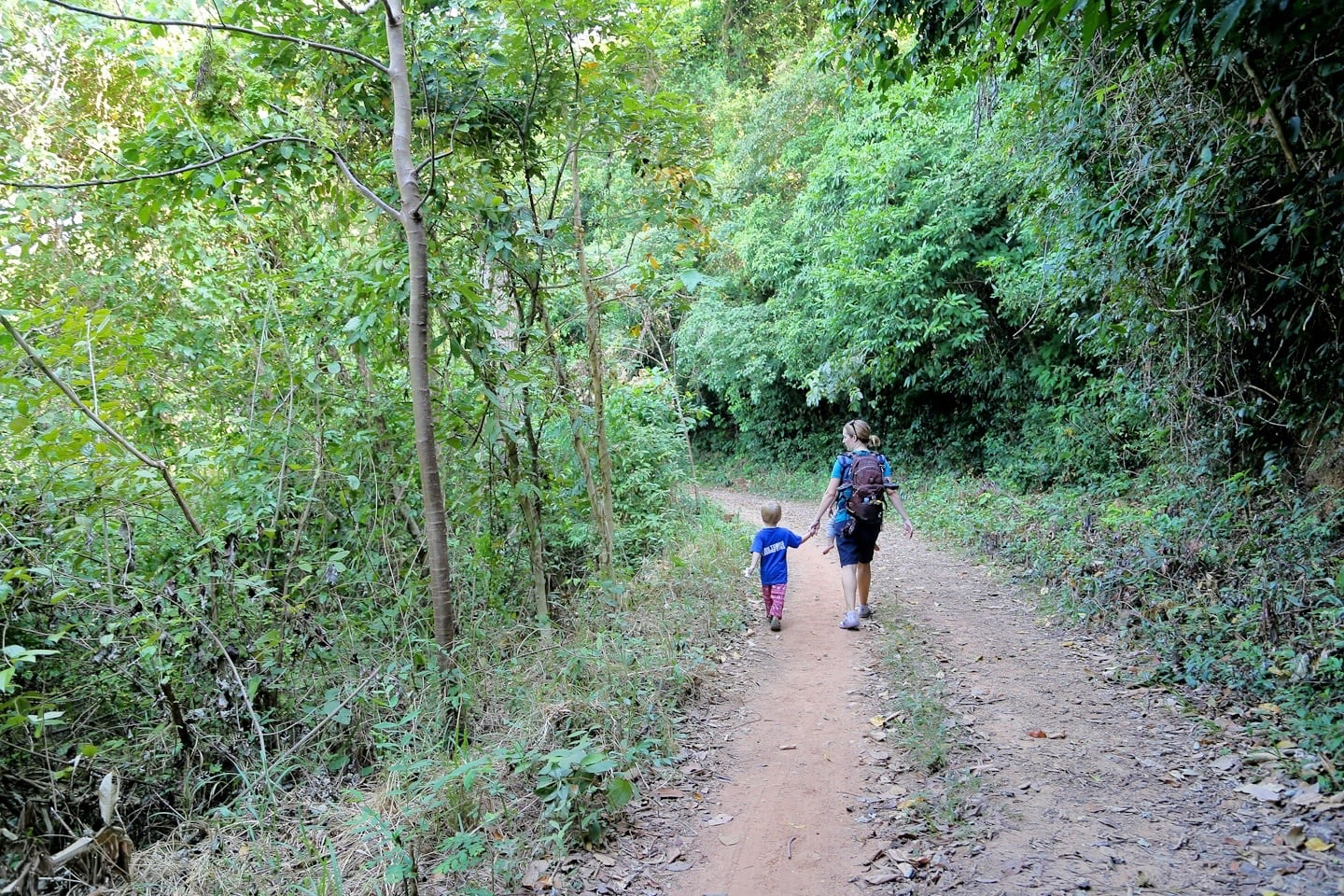 walking along main path at Kep National Park