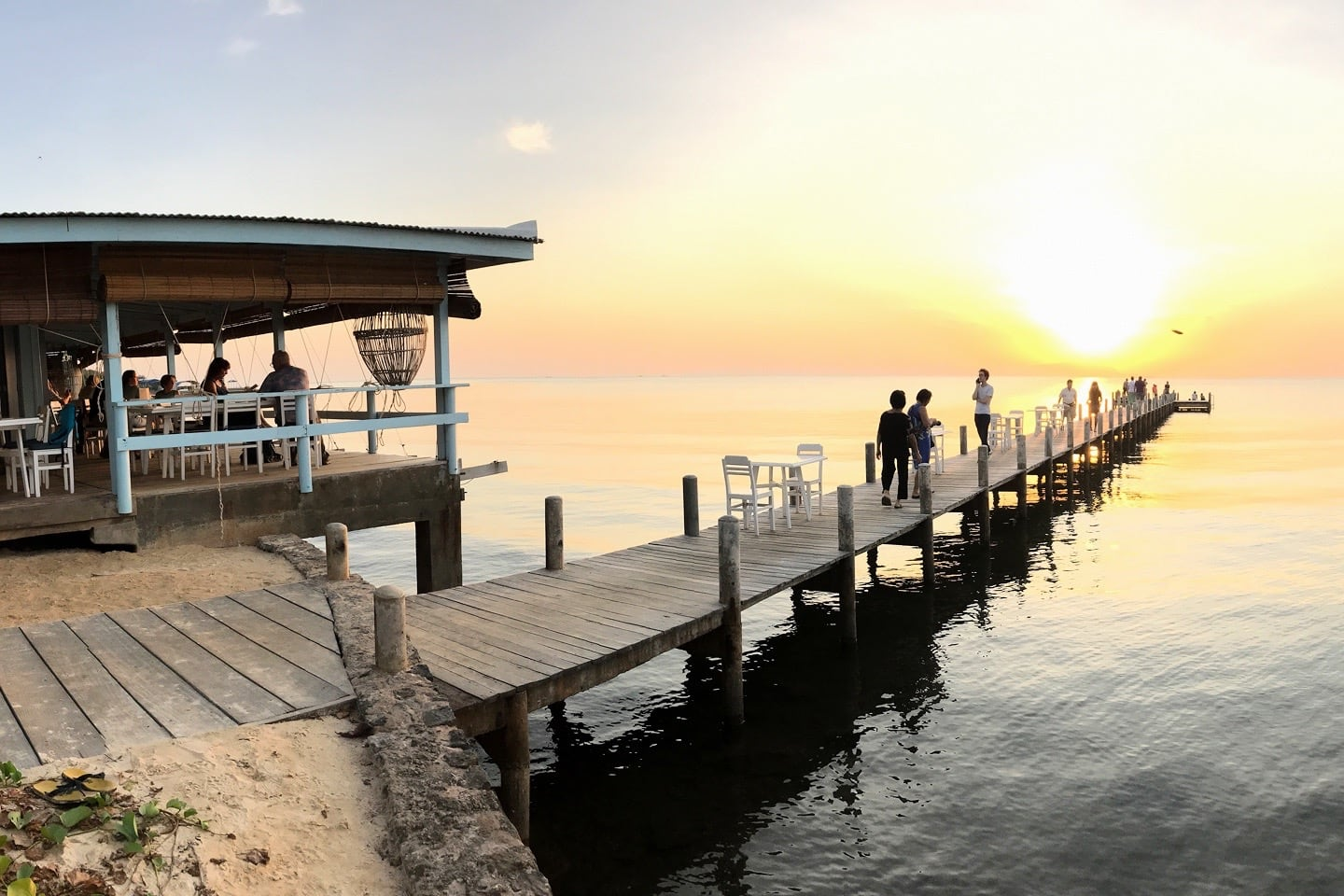 pier at sunset Sailing Club Kep Cambodia