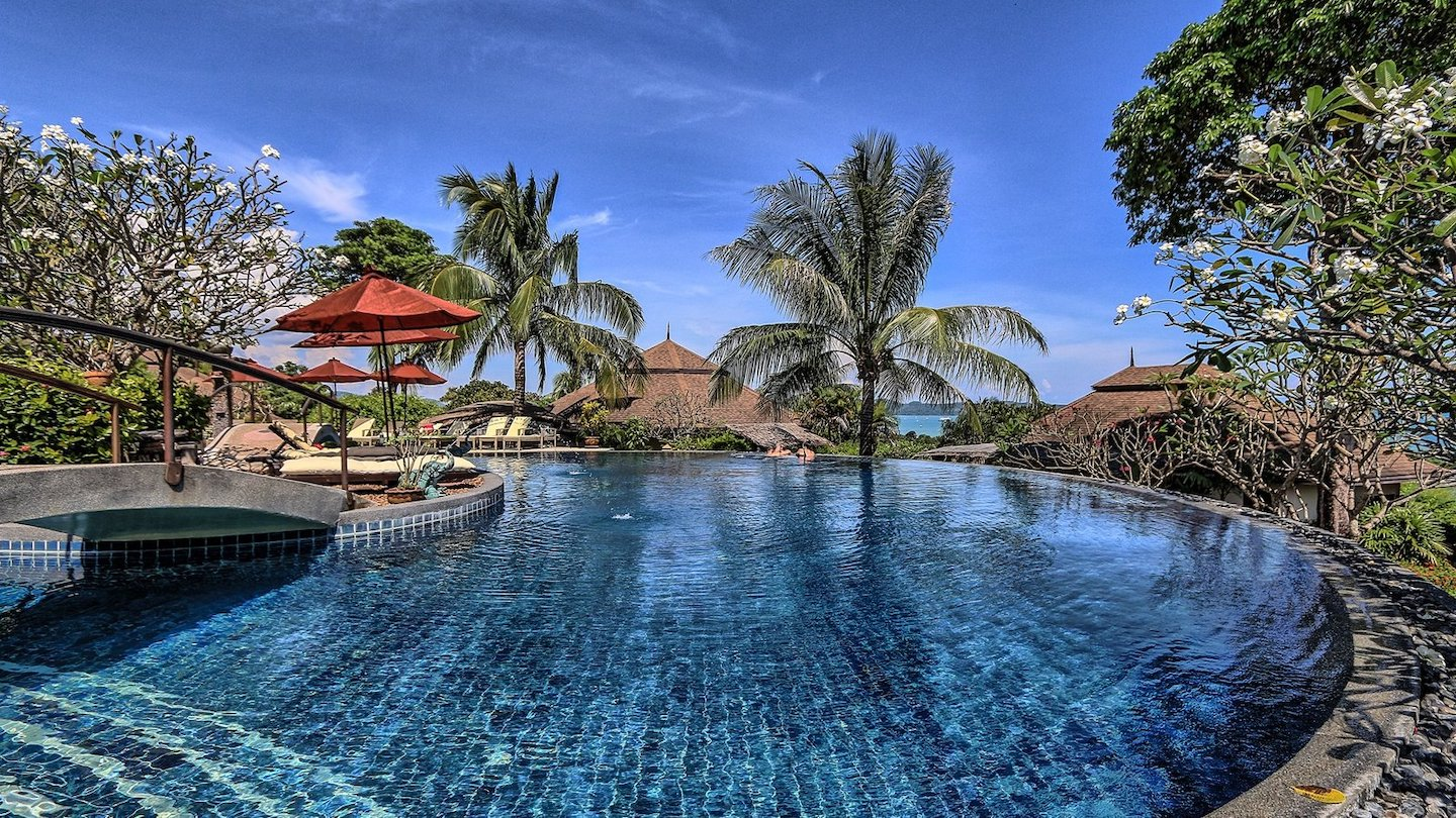 swimming pool at yoga retreat Asia Southeast
