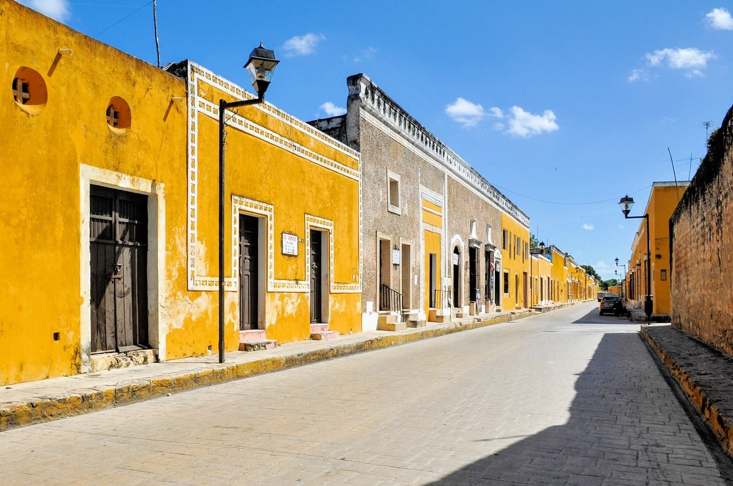 Yellow buildings in Izamal Mexico