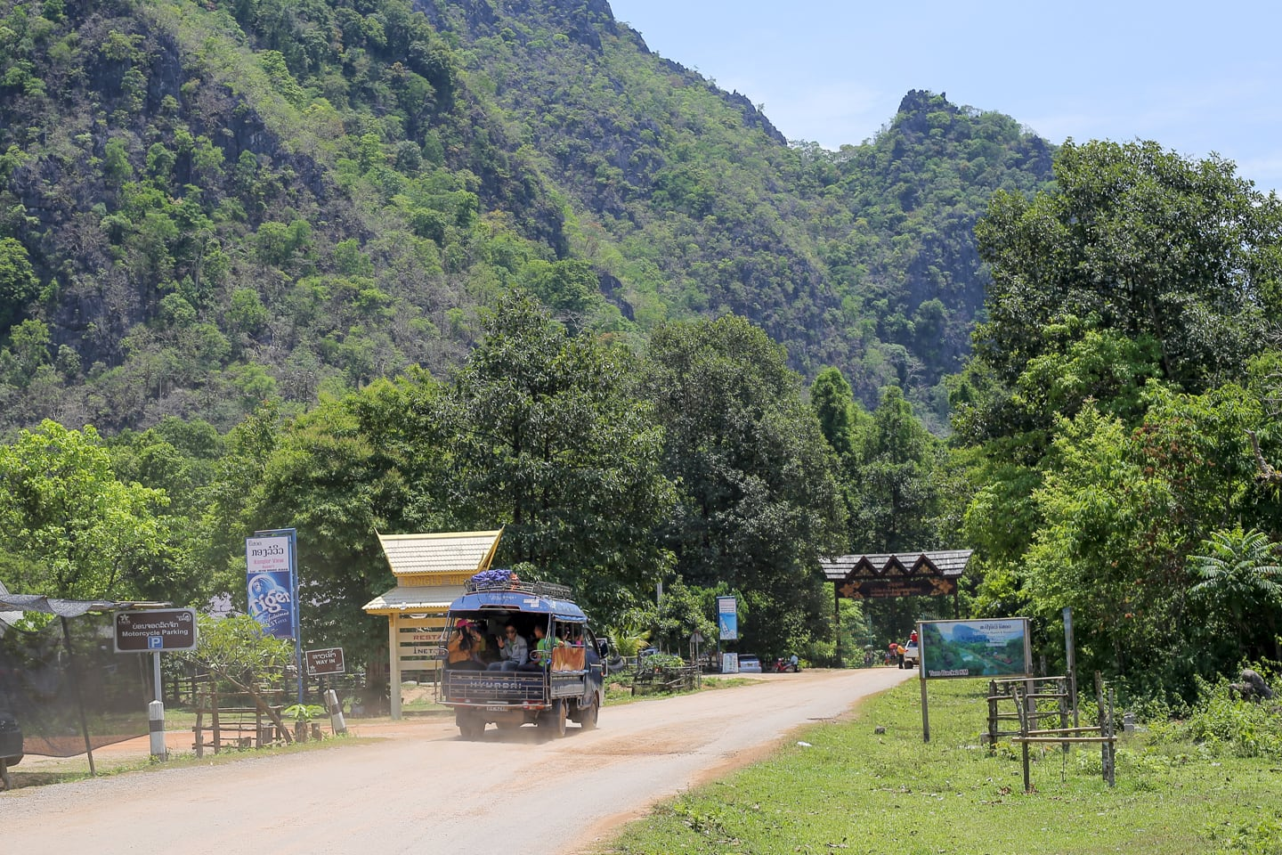 Main entrance to Kong Lor Cave Laos