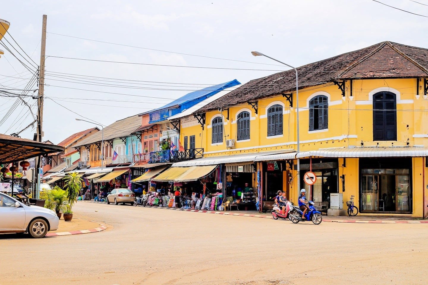 Thakhek Laos French colonial buildings