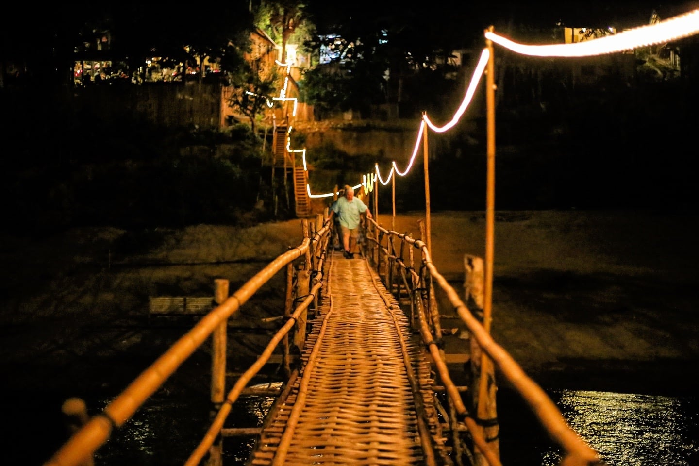 bamboo bridge Laos