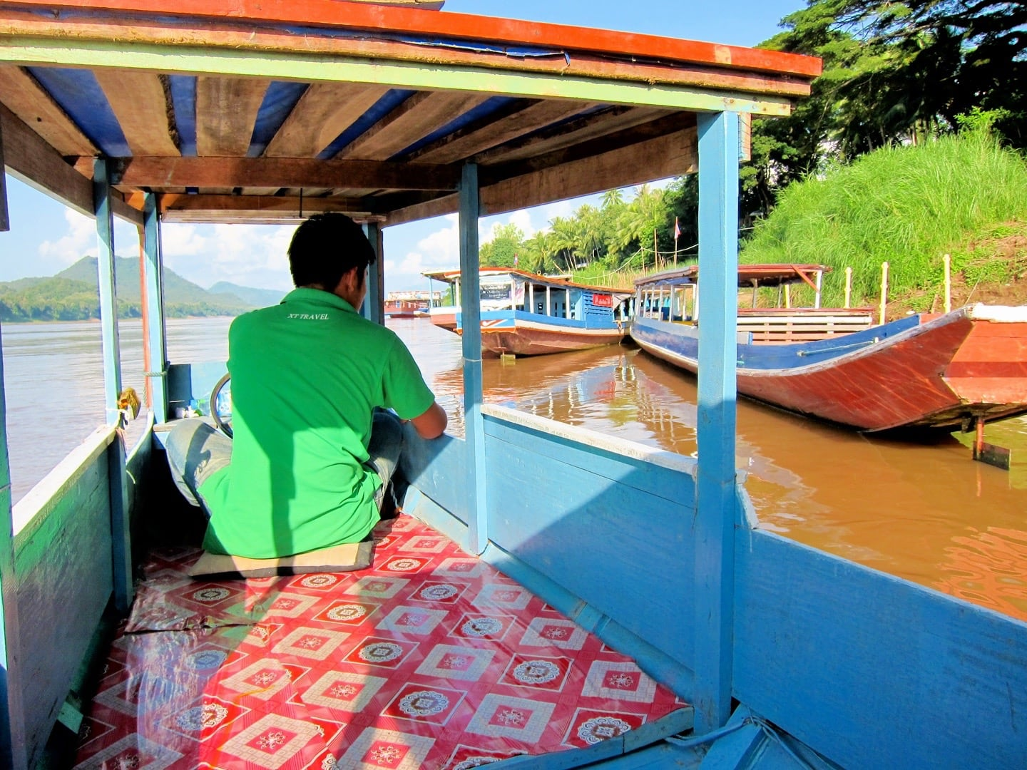 river boat on the Mekong