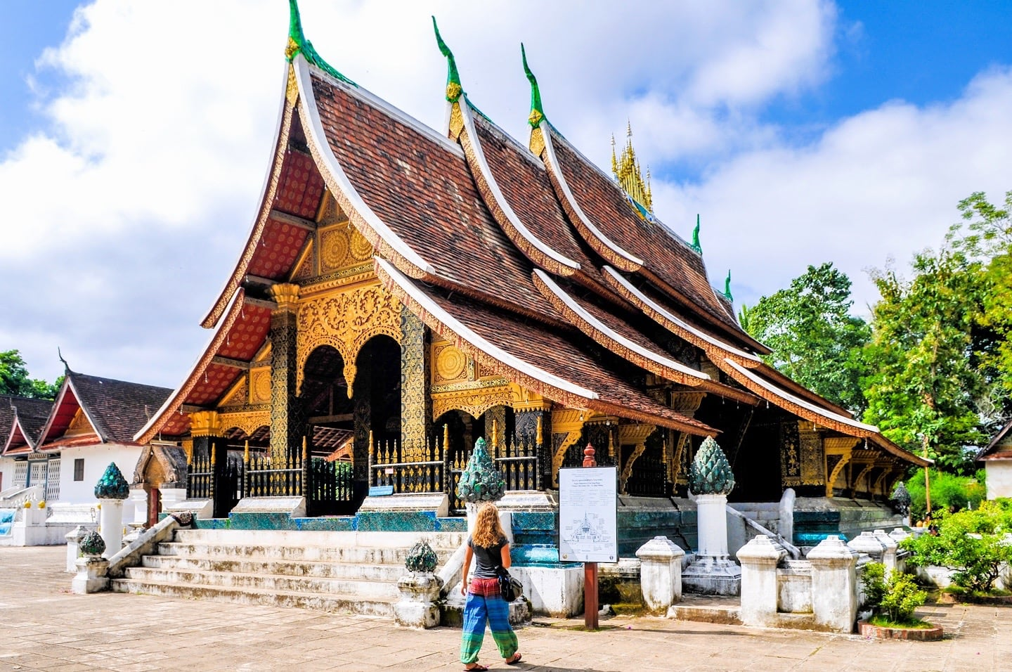 Buddhist temple wat Laos