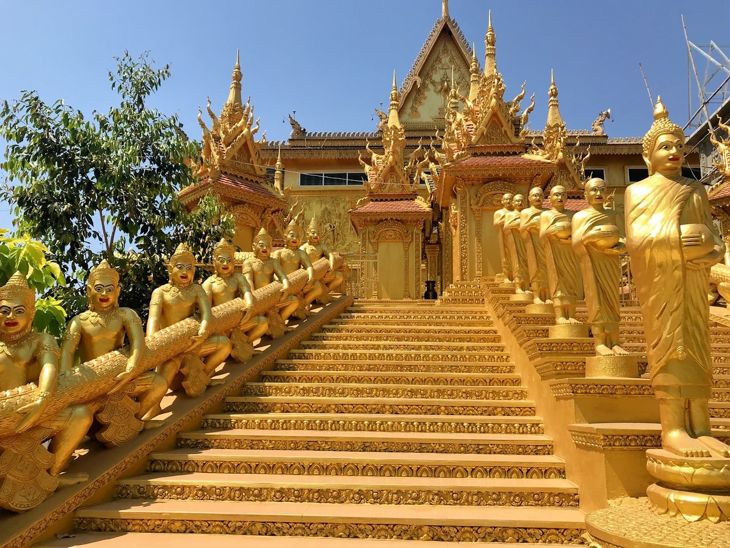 east stairs of the Golden Temple of Phnom Penh